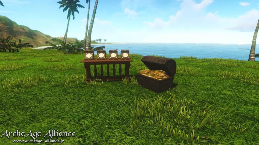 Établi de spécialités sur l'Île du Mirage
