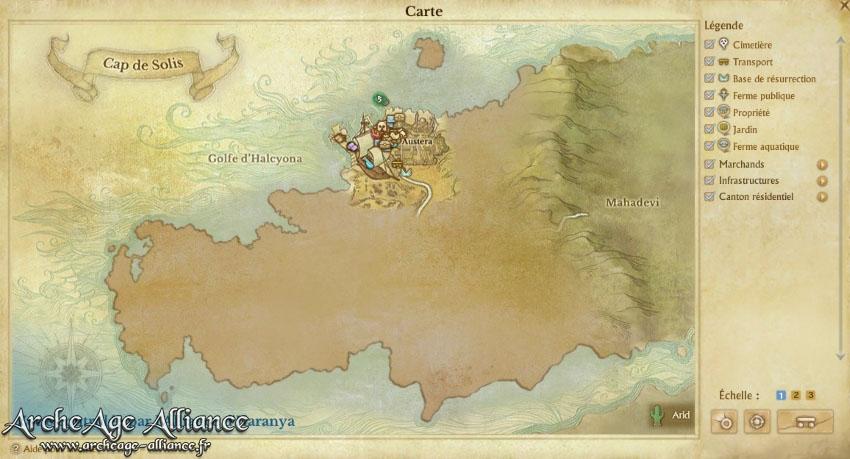 La carte du monde d'Erenor se révèlera au fur et à mesure de votre exploration des différents lieux