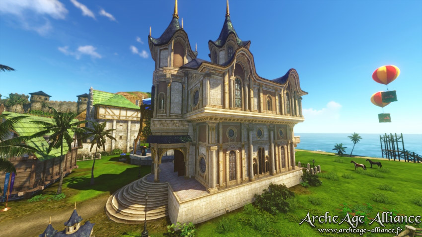 Nouvelle demeure : Château à flèche