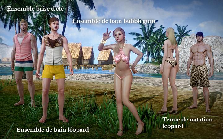 Ensemble de brise d'été, maillot de bain léopard et bubblegum
