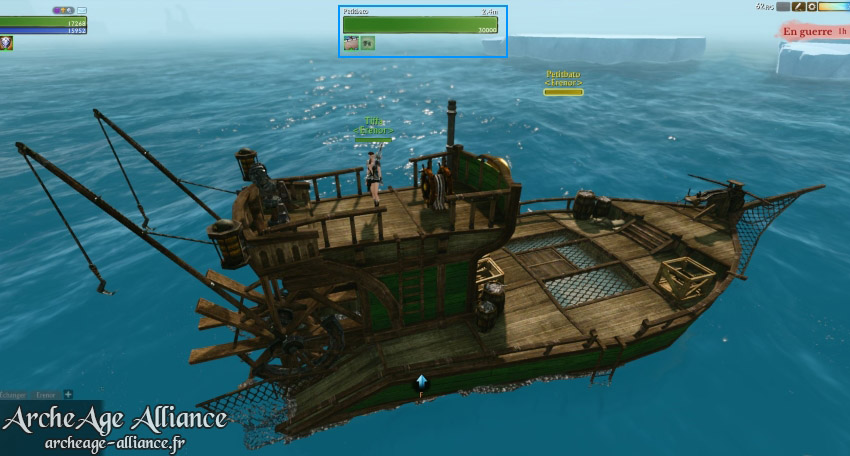 Changements sur le bateau de pêche