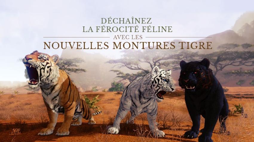 Trois nouvelles montures tigres sur la Boutique d'ArcheAge