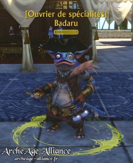 PNJ Badaru pour la quête de la chasse aux trésors