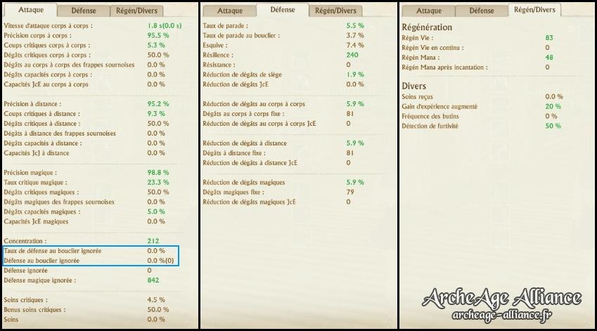 Nouvelle interface de statistiques du joueur