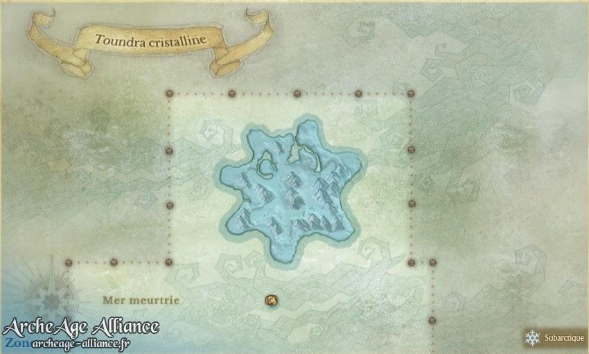 Carte de la Toundra cristalline
