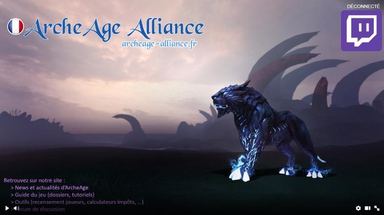 Chaîne Twitch d'ArcheAge Alliance