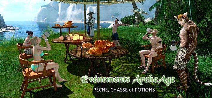 Événements ArcheAge : pêche, chasse et confection de potions