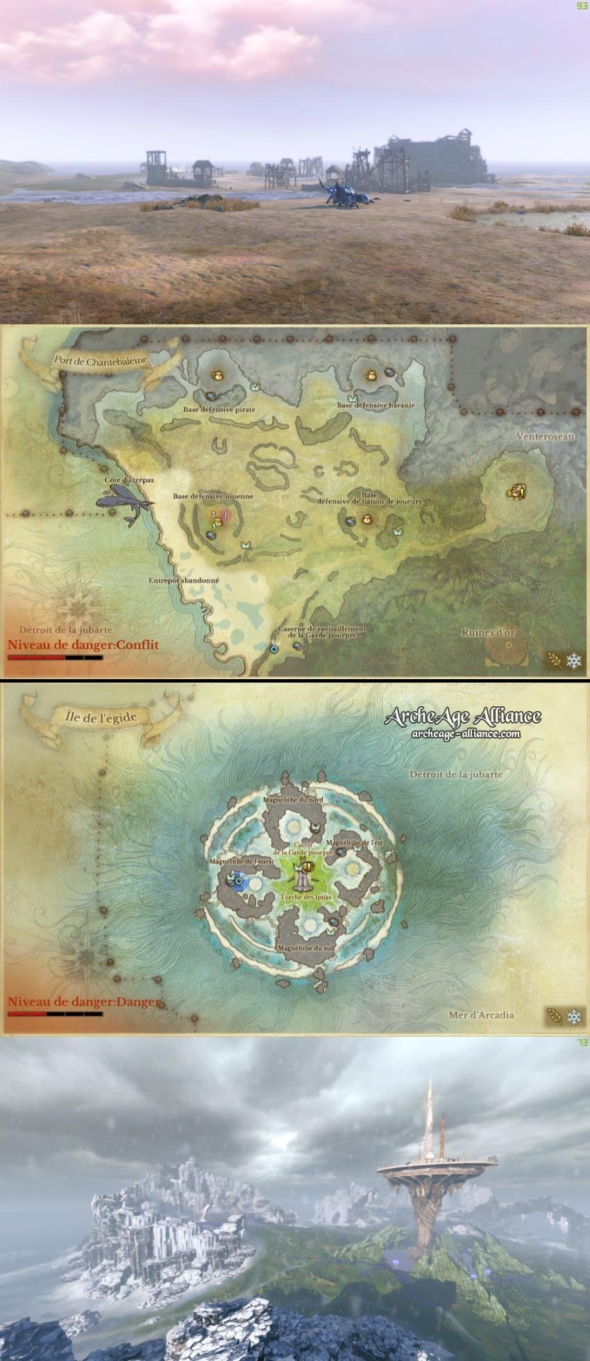 Port de Chantebaleine et Île d'égide