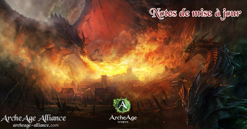 Notes de mise à jour d'ArcheAge