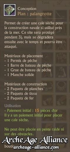Description du plan de palangrotte