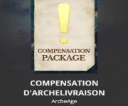 Compensation pour les packs d'ArcheLivraison