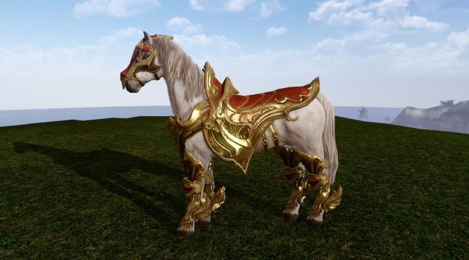Armure Armageddon sur le cheval