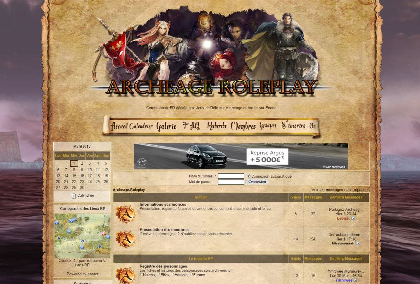 Forum ArcheAge Roleplay, partenaire d'ArcheAge Alliance !