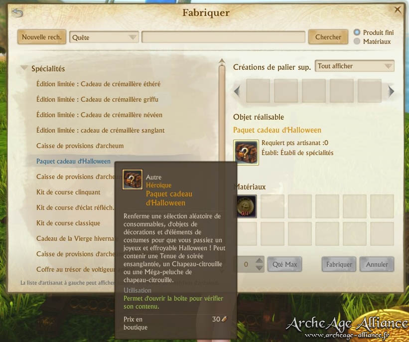 Choisissez parmi toutes les caisses de provisions du jeu ArcheAge !
