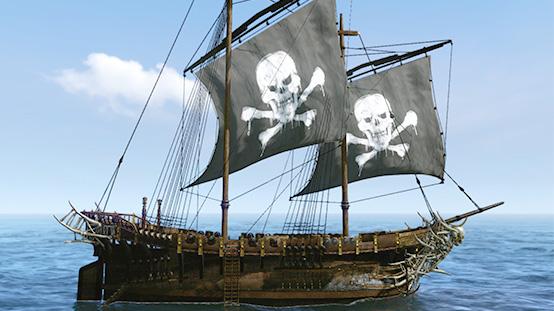 Navire perle noire - bateau pirate
