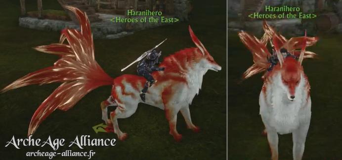 Le renard à neuf queues, la nouvelle monture d'ArcheAge
