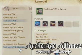 Personnalisez vos grandes maisons sur ArcheAge