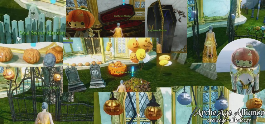 Décorations pour fêter Halloween