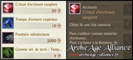 Le cristal d'archeum sanglant est maintenant disponible sur la boutique de prestige