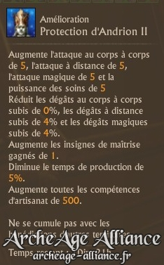 Description du bonus accordé à la faction grâce à la statue