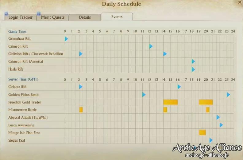 Changement de quelques horaires d'événements quotidiens