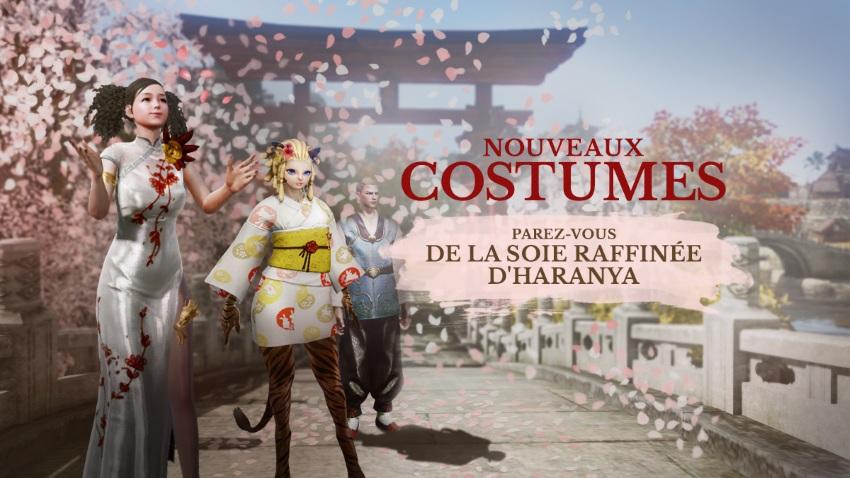 Costumes en soie et en coton raffinés d'Haranya