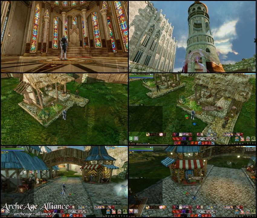 Habitations et lieux de résidence des châteaux
