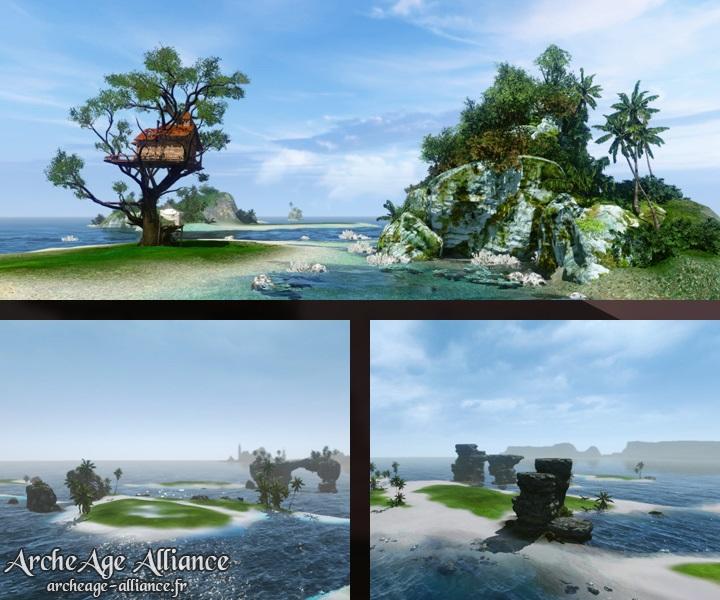 Quelques îles accueilleront de nouvelles zones habitables par les joueurs