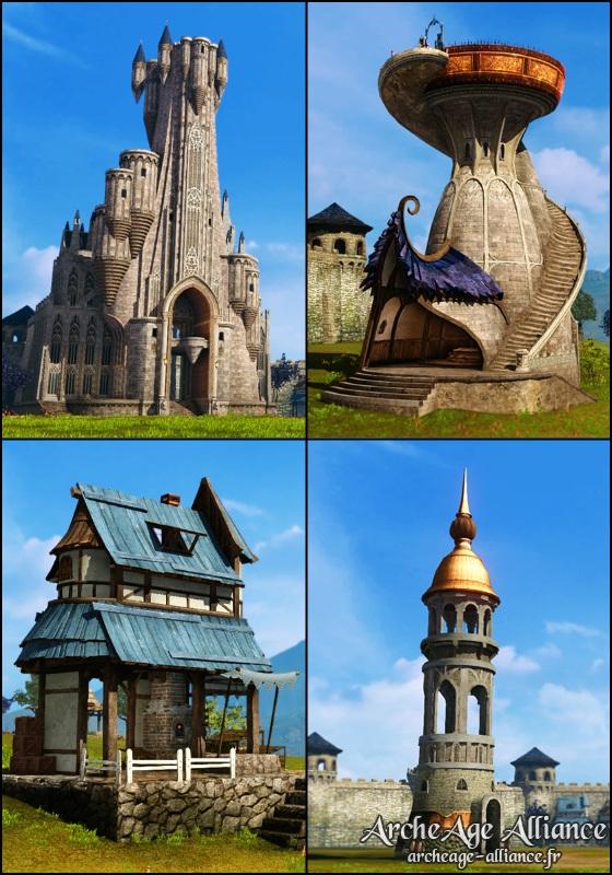 Nouvelles structures de châteaux
