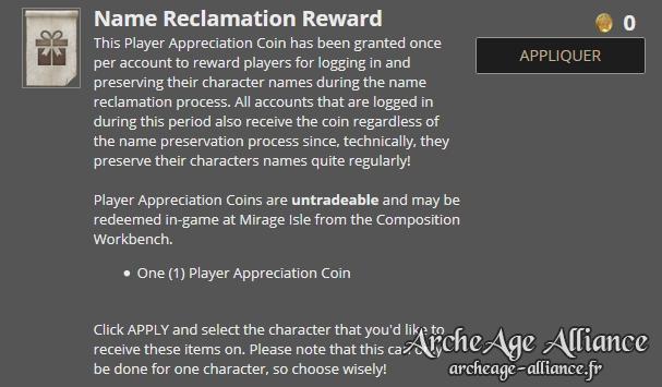 Compensation pour les joueurs actifs