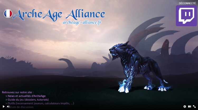 Chaîne Twitch d'ArcheAge Alliance