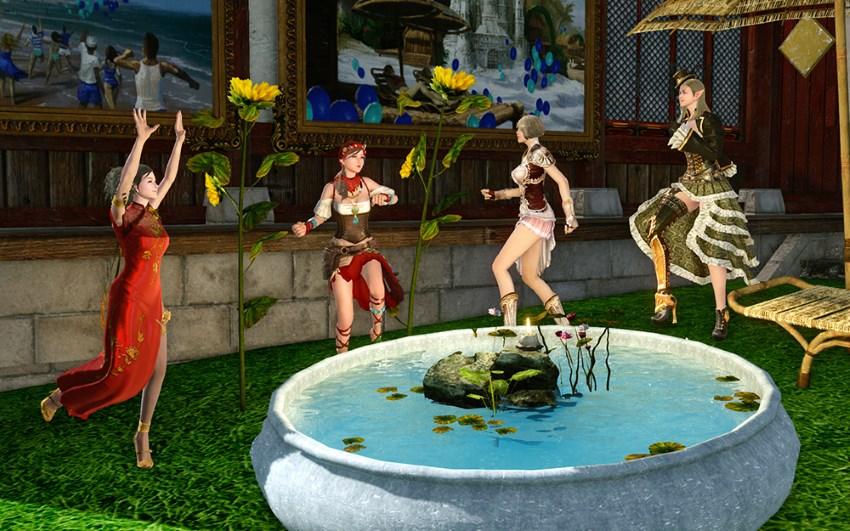 Bassin aux lotus en cadeau