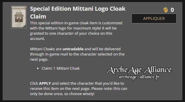 Commande spéciale Édition Mittani