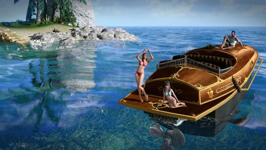 Navire hors-bord offert sur ArcheAge
