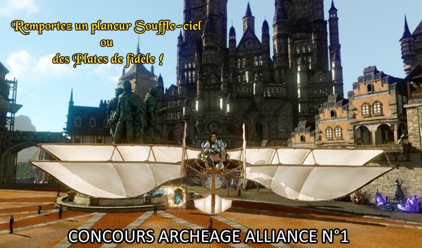 Remportez un planeur Souffle-ciel ou des Plates de fidèle avec ArcheAge Alliance !