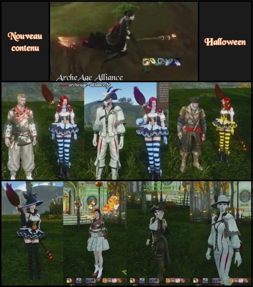 Des costumes et un balai volant pour Halloween !