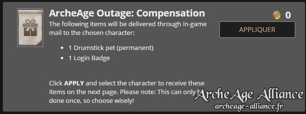 Pack de compensation ArcheAge