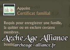 Certificat familial