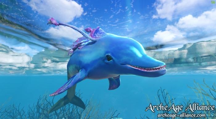 La monture Cyanaqua, le dauphin bleu d'ArcheAge