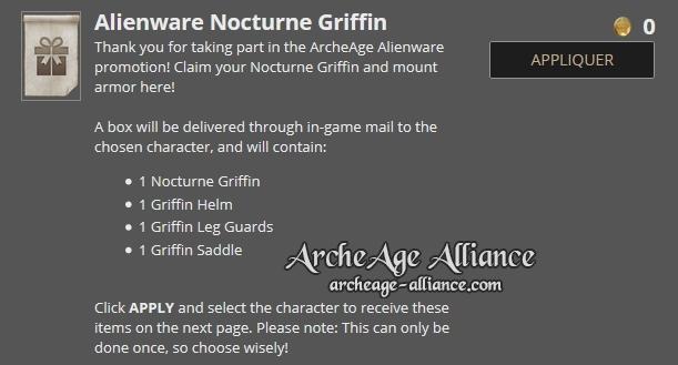 Pack pour le Griffon nocturne