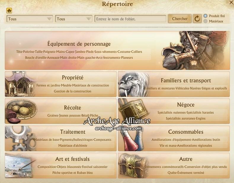 Nouvelle interface du répertoire