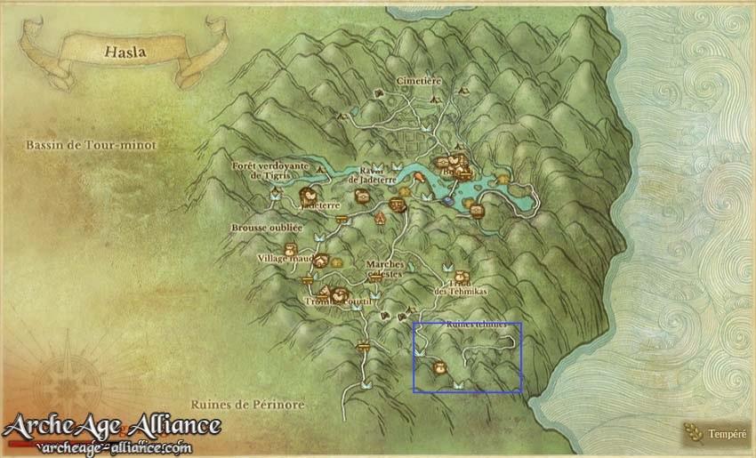 Zone à Hasla pour farmer les runes