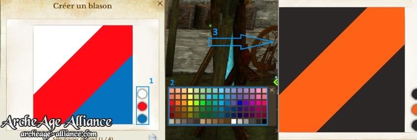 Modifiez les couleurs du fond de votre blason