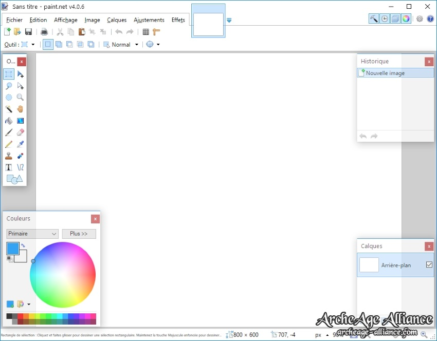 Interface de Paint.NET