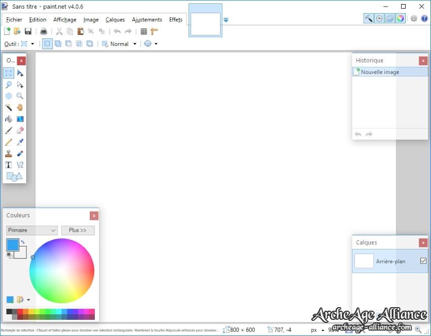 Interface de Paint.NET
