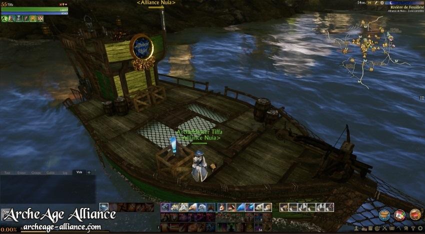 À bord du bateau de pêche