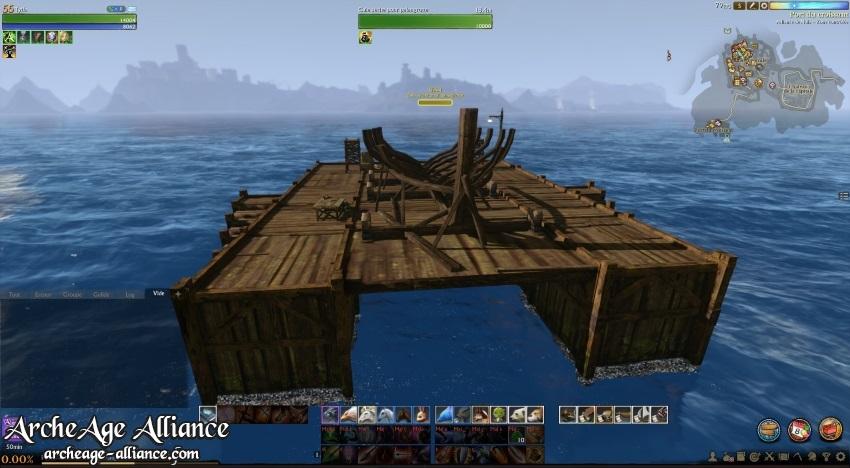 Mise en place du bois pour le bateau de pêche