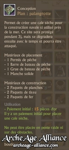 Description du plan de palangrotte
