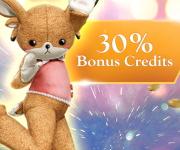 30% de bonus pour tous les packs de crédits